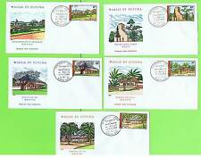 Wallia & Futuna 1977 Monuments set on five First Day Covers
