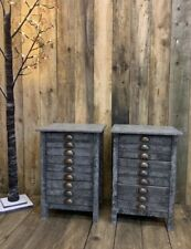Pair Of Bedside Drawers Tables Painted Industrial Style ⭐️ DELIVERY AVAILABLE ⭐