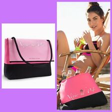 Victorias Secret Beach Cooler Tote Bag Insulated Pink / Black ~ NEW