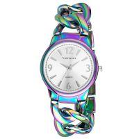 Vernier Women's Metal Interlocking Chain Bracelet Watch 4 Colors With Gift Box