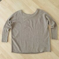 Vince Womens Wool Cashmere Blend  Pullover Sweater In Heather Wheat Size Small