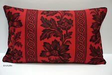 "Ralph Lauren ~ 'Gwinnet Toile' Antique Red Fabric Cushion Cover ~ 12"" x 20"""