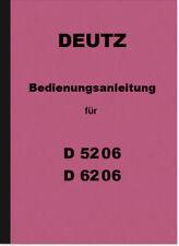 Deutz D 5206 50 06 6206 62 06 Bedienungsanleitung Betriebsanleitung Handbuch