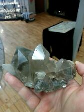 Quartz cluster, smokey with phantom, chlorite from Himalayas