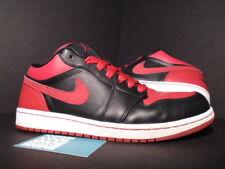 2008 Nike Air Jordan I Retro 1 PHAT LOW OG BRED BLACK RED WHITE 338145-061 9.5