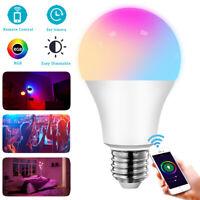 Wifi Smart LED Light Bulb 9W(60W) A19 850LM RGB Dimmable For Alexa Google Home