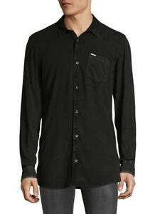 Buffalo David Bitton Men's Charcoal Sisidor Button-up Shirt Sz XL $79