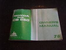 OEM Honda Owners Manual 1976 CB550 CB 550