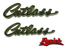"""1965 1966 Olds Cutlass Fender & Quarter """"Cutlass"""" Emblem Script Set Oldsmobile"""