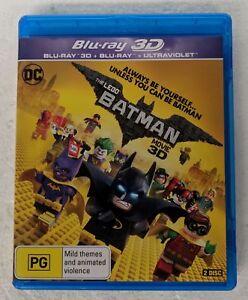 THE LEGO BATMAN MOVIE - 3D Blu-Ray + 2D Blu-Ray Region B oz seller DC