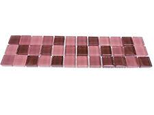 Bordüre 29,5x7,2cm Mosaikbordüren Glasbordüren Glasbordüre SDA dark lila violett
