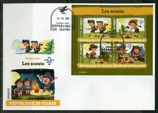 GUINEA 2019 SCOUTS SHEET FIRST DAY COVER