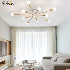 Modern branches Metal Chandelier Sputnik Semi Flush Mount Ceiling light Fixture