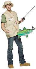 HALLOWEEN ADULT CATCH OF THE DAY FISHERMAN FISH  COSTUME MASK PROP