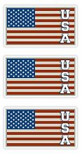 USA American Flag 3x Stickers United States Flags with Letters Locker Helmet Car