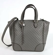 Gucci Gray Micro-guccissima Leather Small Tote Crossbody Bag 449241 1226