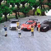 5pcs 1:64 Personaggio in Resina Uomo Ventole Strada Gruppo Scenario Diorama