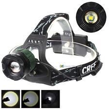 3000LM CREE XM-L T6 LED Zoomable Headlamp Headlight 18650 Flashligh 3-mode BA##