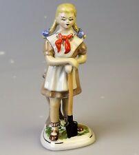 Russische Porzellanfigur Pionier Schülerin Porzellan UdSSR