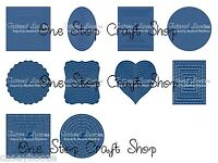 Tattered Lace Cutting Dies -Squares, Ovals, Rectangles, Circles, Hearts - Sale