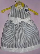 ABITO CERIMONIA BIMBA marca STELLA - TG.3 (6-9 mesi) vestito bianco blu elegante