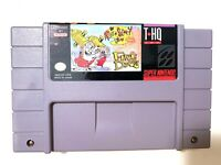 Ren & Stimpy Show: Fire Dogs SUPER NINTENDO SNES GAME Tested WORKING Authentic