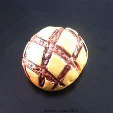 10pcs Resin Yellow Tone Chocolate Bread Flatback Cabochons DIY Craft Findings