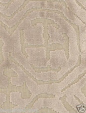POLLACK ASIAN CHINOISERIE BELGIUM CUT VELVET FABRIC 10 YARDS CONCH NATURAL