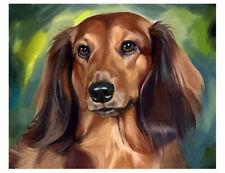 artav Dachshund 02 Art Print on Watercolor Paper