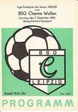 DDR-Liga 80/81 BSG Chemie Leipzig-BSG Chemie Wolfen 07.09.1980