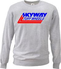 Retro Skyway Tuff Wheels Sweatshirt Jumper Mens 80's Hoodie Haro Recreation Gry