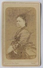 c1875 CDV Eugène APPERT portrait de femme albumen print albumine
