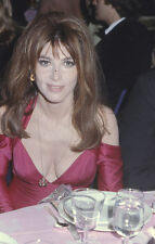 Lee Grant original photographer's 35mm film slide sexy in pink dress dining