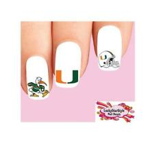 Waterslide Nail Decals Set of 20 - Miami Hurricanes Assorted