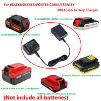 For Power Tools BLACK&DECKER/PORTER CABLE/STANLEY 20V Li-ion Battery Charger