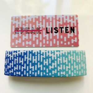 Zox strap Don't Speak Listen elastic wristband bracelet #00531