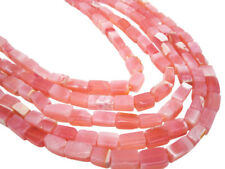 Pink Opal Beads, Pink Peruvian Opal, Peruvian Pink Opal, Rectangle Shape