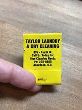 Taylor Laundry & Dry Cleaning Aberdeen South Dakota Matchbook Flat Laundromat