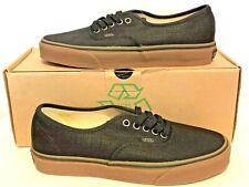 Vans Authentic Hemp Black Rubber Gum Sole (NEW) Rare From 2010 Off the Wall