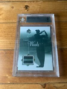 2002 SP Authentic #46 Tiger Woods Legends of the Fairway BGS 9