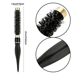 1pc Ceramic & Nylon Curly Hair Brush Heat Resistant Round Roller Hair Comb