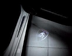 "Genuine Lamborghini Urus Door Welcome Lamps- ""Lamborghini Shield"" Design"