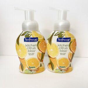 2 Softsoap AntiBac Kitchen CITRUS BLISS Foam Hand Soft Soap Foaming DISCONTINUED