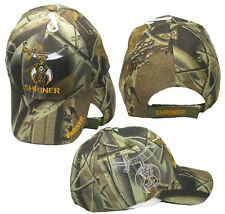 Shriner Emblem Camo Camouflage With Shadow Embroidered Cap