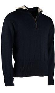 DAS BOOT quarter zip seaman's sweater, Submariners Jumper, British Wool.  #41029