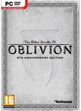 OBLIVION THE ELDER SCROLL IV 5TH ANNIVERSARY ED NUOVO PER PC COMPLETO VERSION UK
