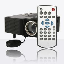 UC28 HD HDMI Portable Mini LED Projector AV VGA USB SD Home Cinema Theater Black