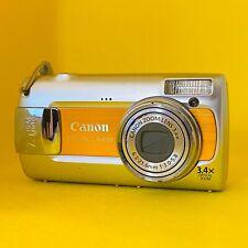 Canon PowerShot A470 7.1MP Digital Camera - Orange - 3.4X Optical Zoom - Used