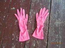hot pink long evening gloves