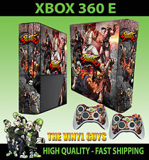 XBOX 360 E STREET FIGHTER MASH UP RYU KEN AKUMA STICKER SKIN COVER & 2 PAD SKINS